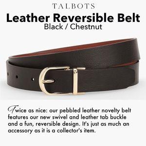 Talbots Accessories - Talbots Belt ~Leather Reversible Black/Chestnut
